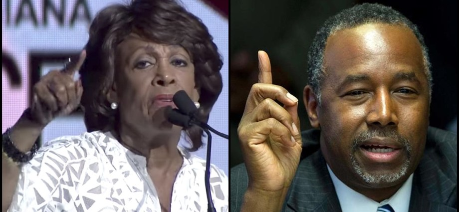 Maxine Waters Wants To Take Ben Carson's Ass Apart