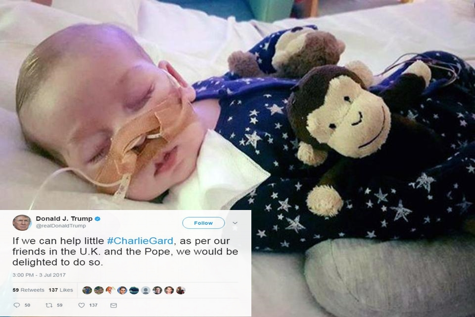 People Are Upset Trump Offered Help For Terminally Ill British Baby