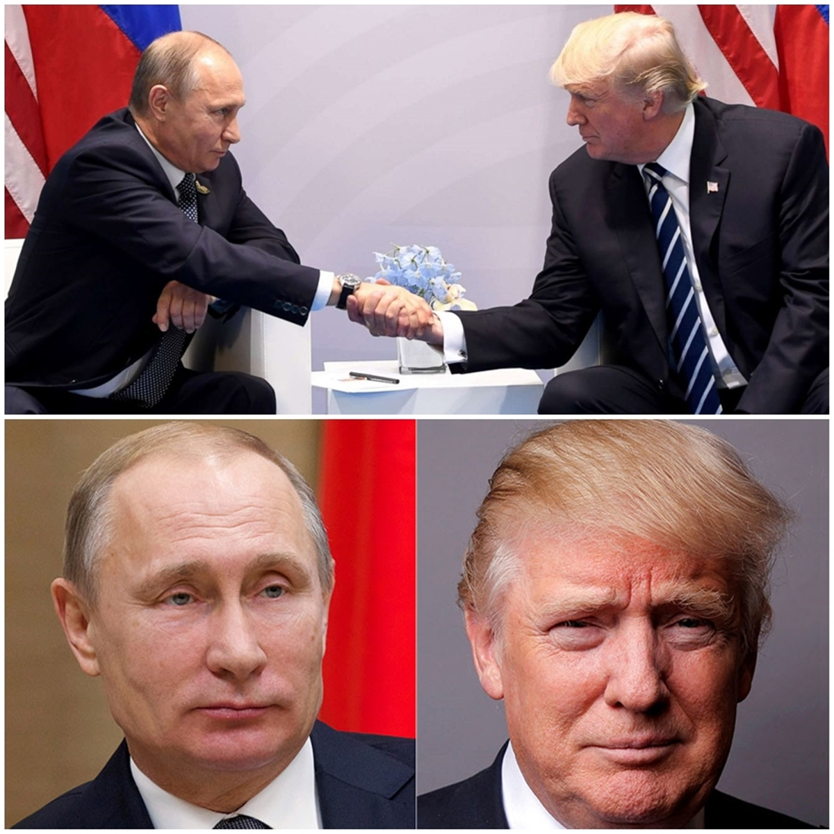 Trump and Putin Meet For First Time 'First Handshake'