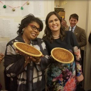 Sarah Sanders presents April Ryan with her own pecan pie