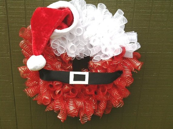 Santa-Christmas-Mesh-Wreath