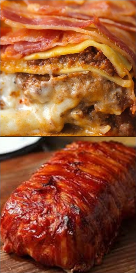 bacon wrapped meatloaf 2