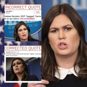 Democratic Lawmaker Calls Sarah Sanders A Liar, Sarah Rips Him A New One