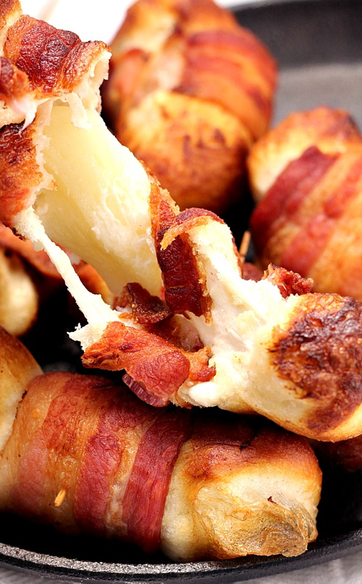 Bacon Wrapped Cheese Bombs