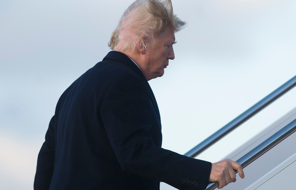President Trump Makes Fun Of His Bald Spot; I 'Try Like Hell' To Hide It
