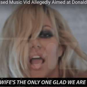 Aubrey O'Day Made a Skanky Music Video Directed at Donald Trump Jr