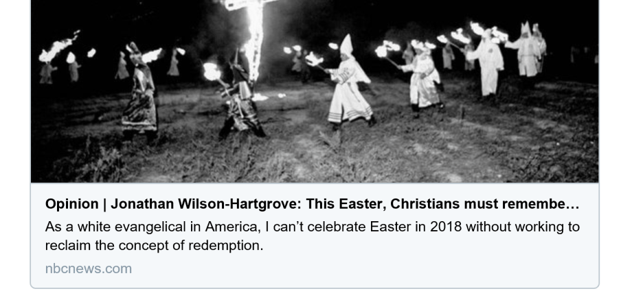 NBC Wanted Christians To Remember White Supremacy This Easter