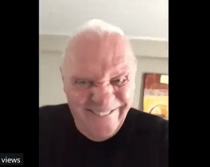 Anthony Hopkins Posted This Bizarre Video