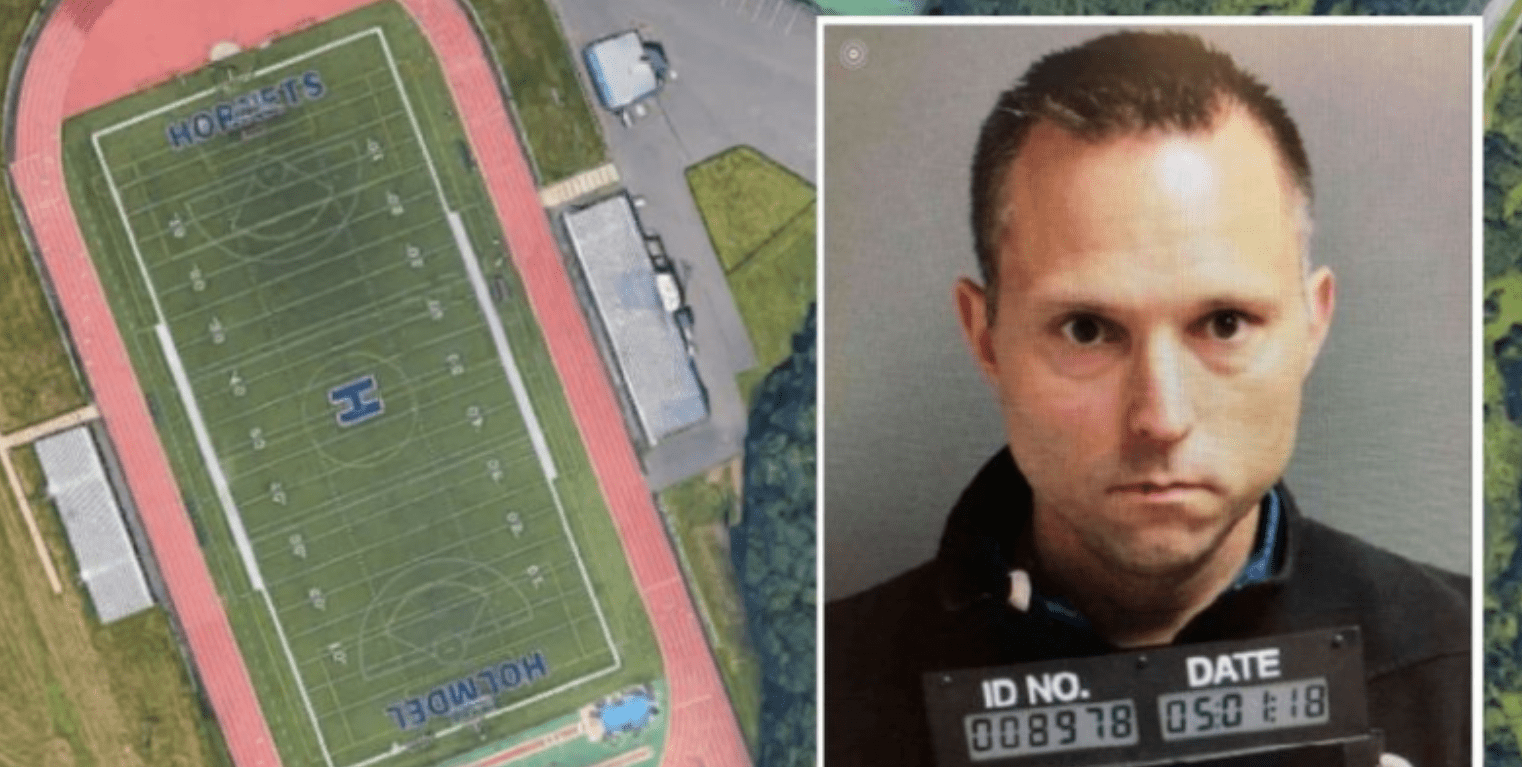 New Jersey schools superintendent was arrested Monday when officials discovered he had been POOPING on a high school football field