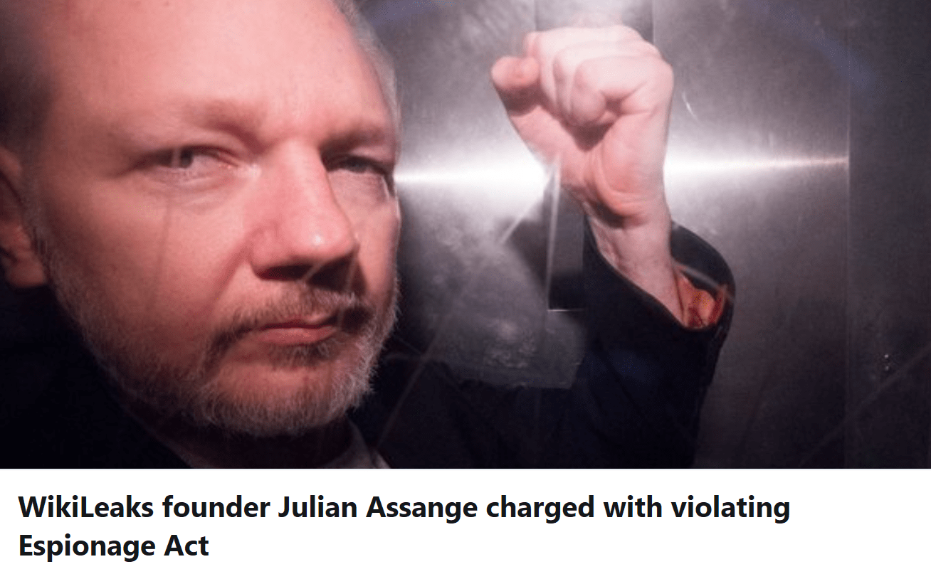 WikiLeaks Founder Julian Assange Charged With 17 New Counts Under The Espionage Act