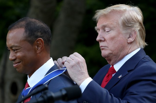 President Trump Awarded Tiger Woods With The Presidential Medal of Freedom