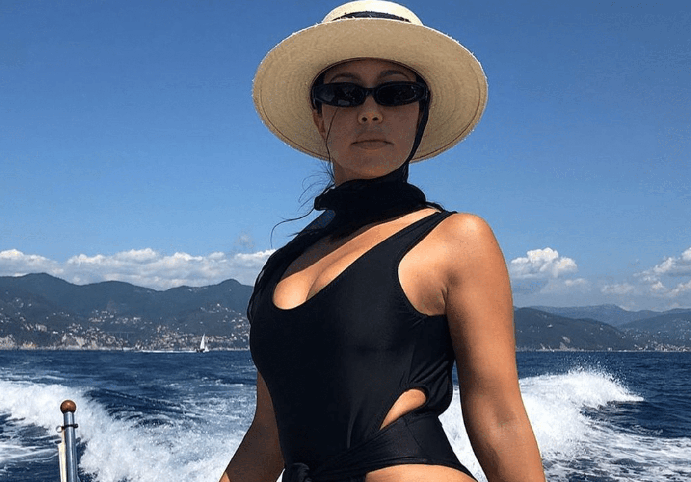 Kourtney Kardashian Shares Photo In Swimsuit Without Editing Out Stretch Marks