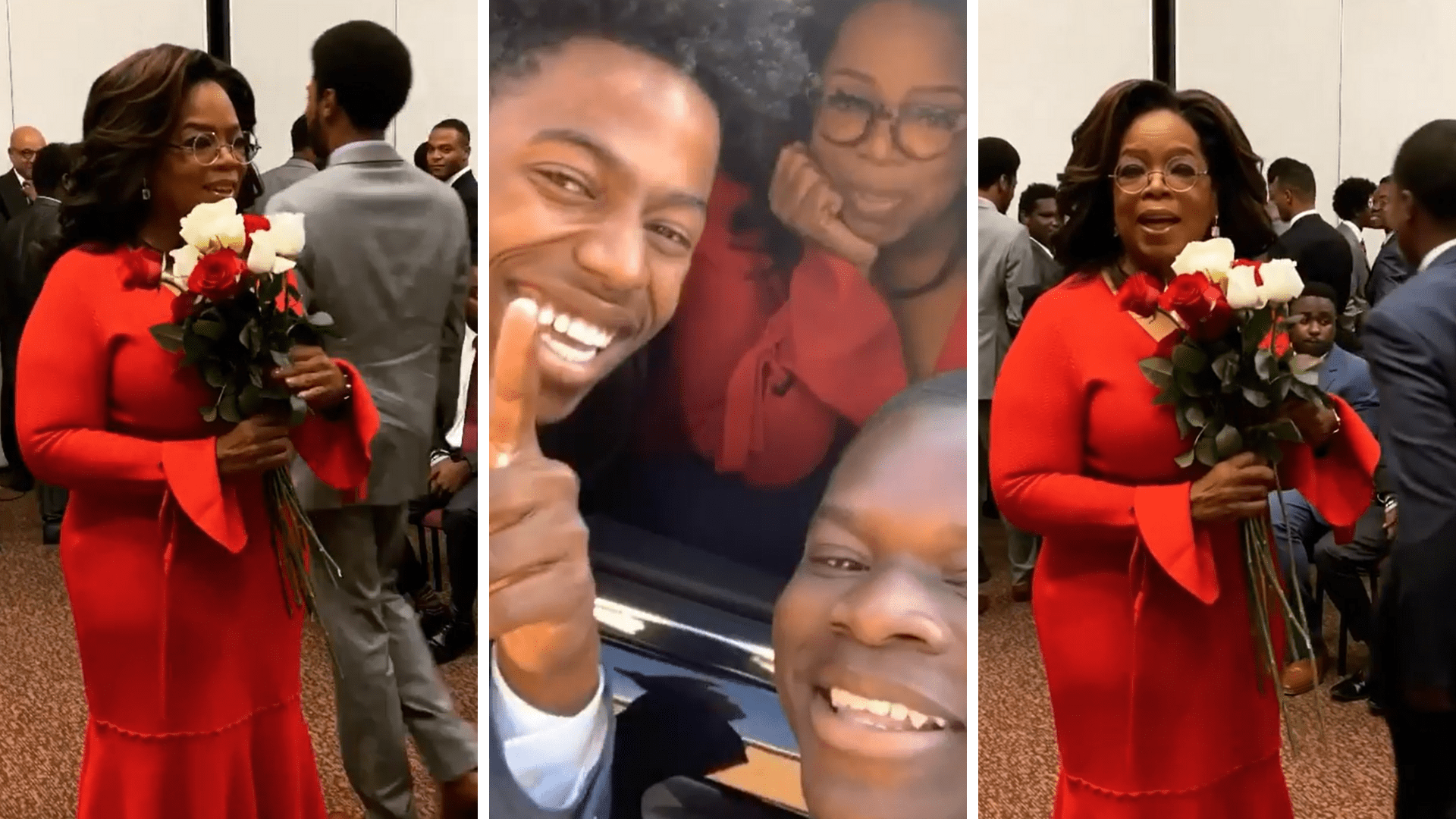 Oprah Called Out Fan's Cracked Phone While Taking A Selfie: He Got A New Phone!