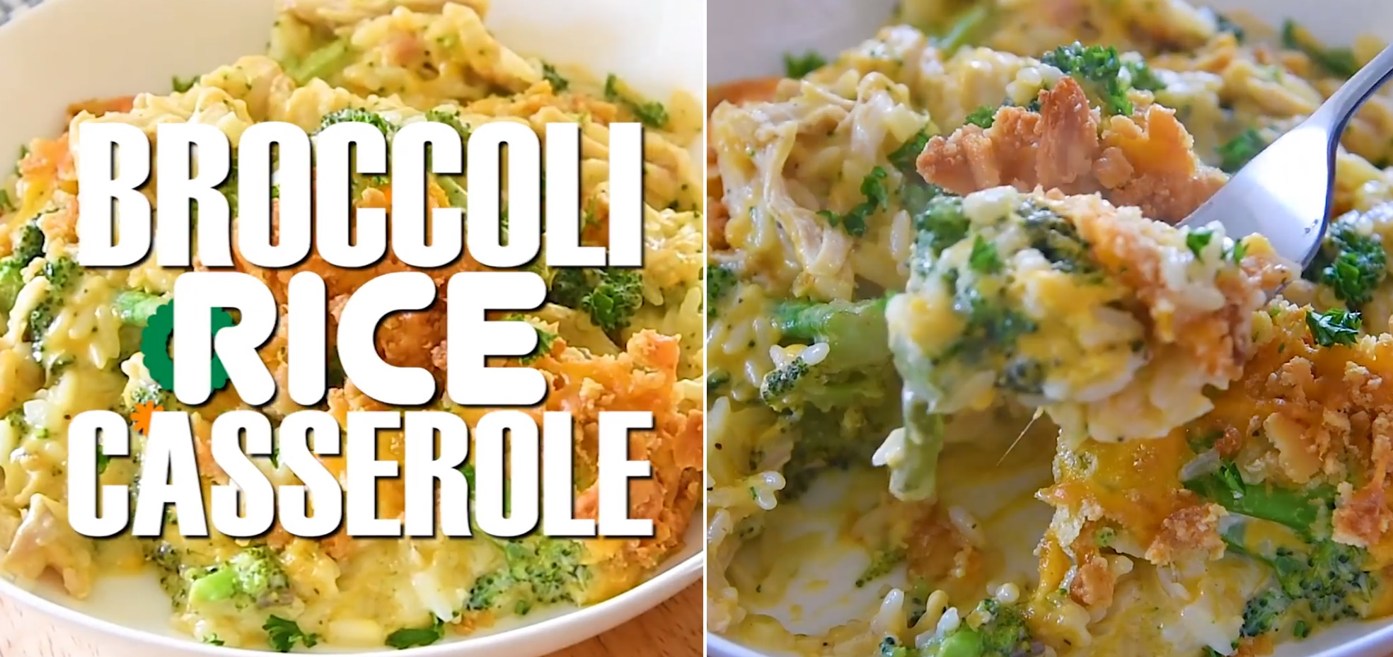 Easy Broccoli Rice Casserole with Turkey or Chicken