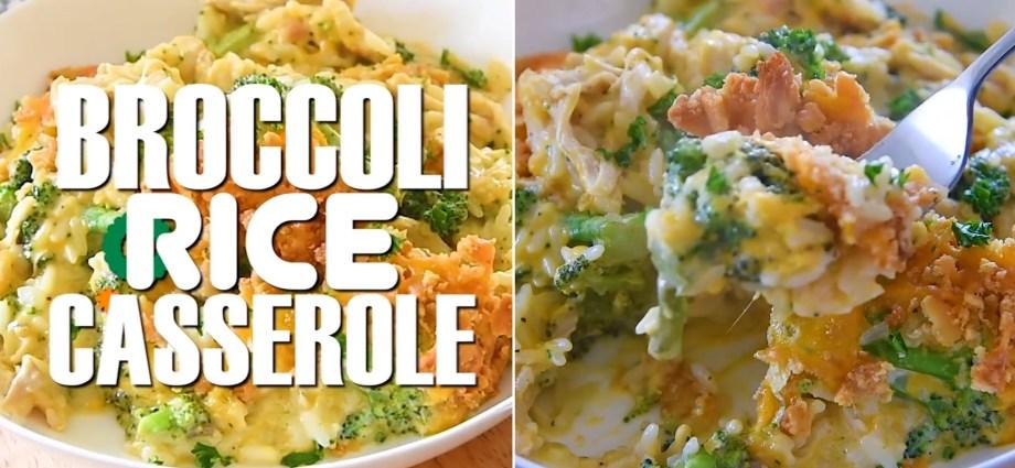 Easy Broccoli Rice Casserole with Turkey