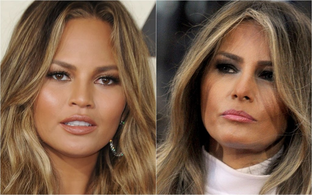 Chrissy Teigen launches profanity-laced rant over 'wifebot' Melania Trump's coronavirus response