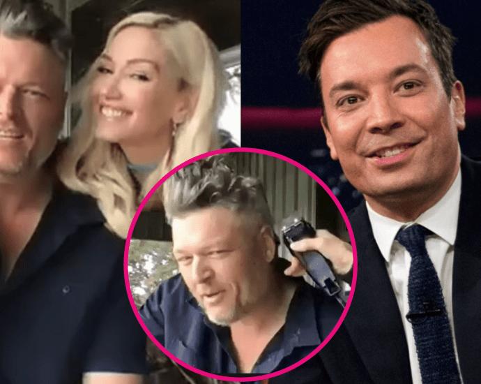 Gwen Stefani Shaves Blake Shelton's Hair While In Quarantine on Jimmy Fallon