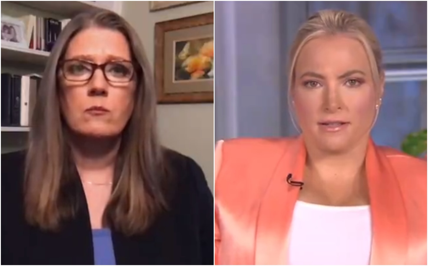 The View's Meghan McCain asks Mary Trump if she wrote a tell-all for the paycheck
