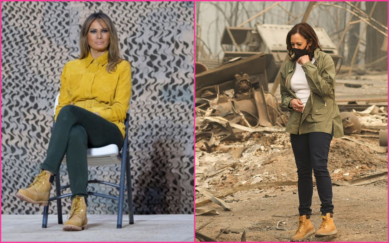 Melania Wore Them First!: Melania Trump Ridiculed, Kamala Harris Praised After Wearing Same Timberland Boots