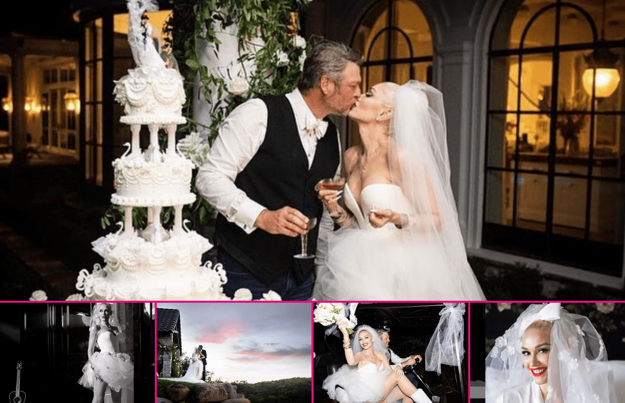 Gwen Stefani and Blake Shelton Share First Photos From Their Wedding