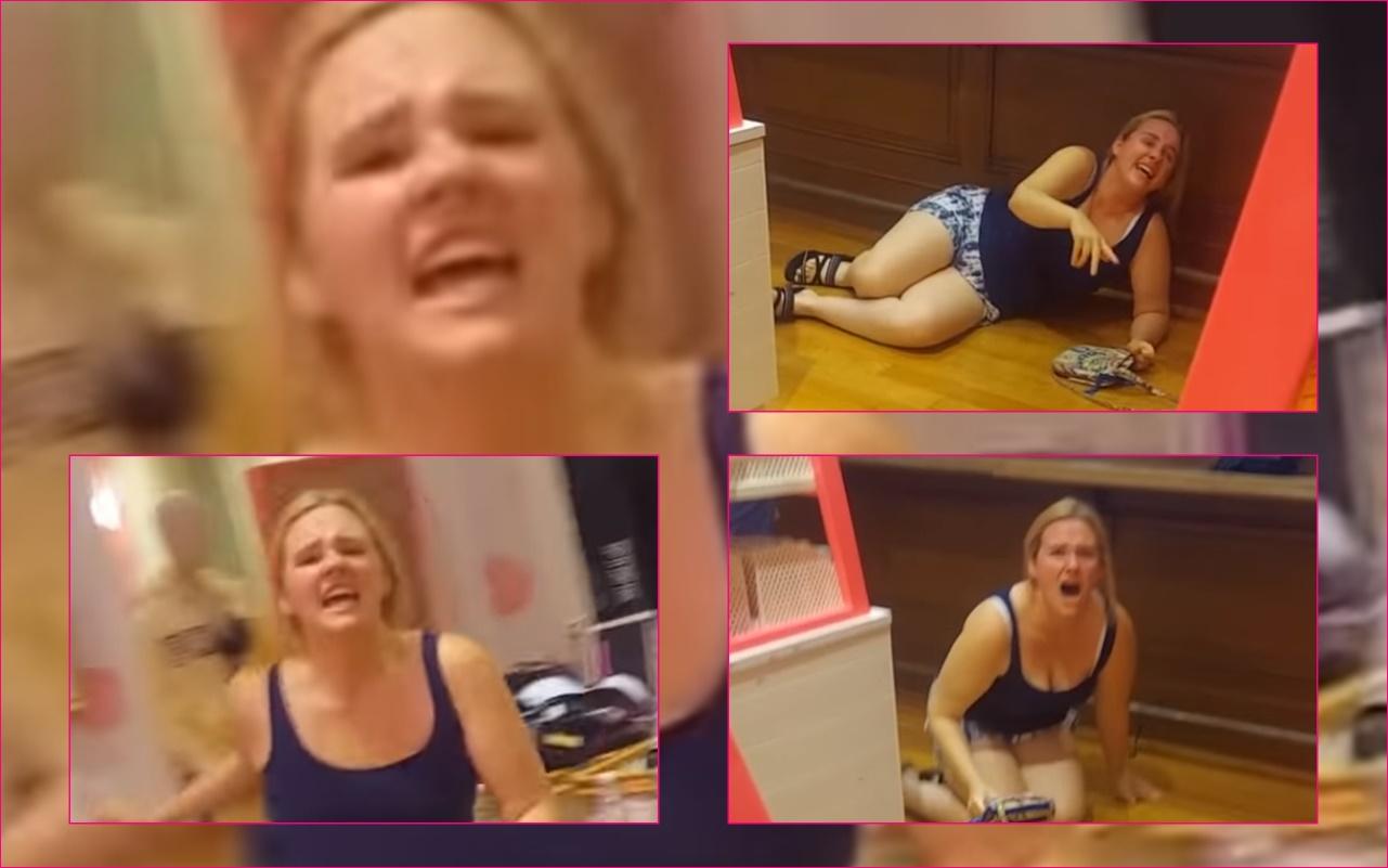 VIDEO! White Woman Dubbed Victoria's Secret 'Karen' Throws a Full-Blown Wild Hissy Fit