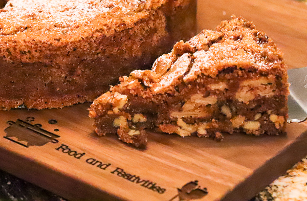 Old Fashioned Cinnamon Apple Nut Cake