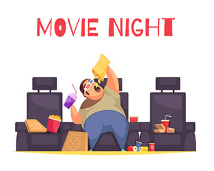 ongezond eten Movie Night
