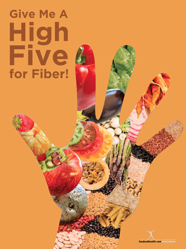 high five for fiber and free infographic food and health communications. Black Bedroom Furniture Sets. Home Design Ideas