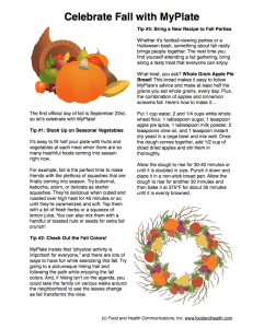 Celebrate Fall with MyPlate Handout
