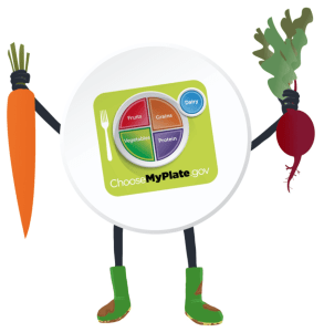 MyPlate Vegetable Stickers