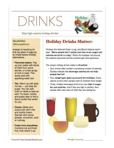 Holiday Challenge: Drinks