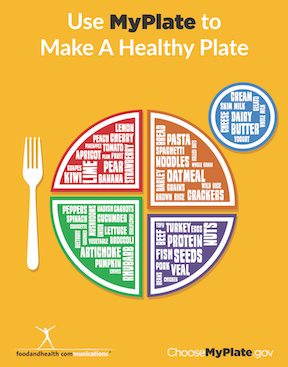 This Free MyPlate Poster Is Perfect For Displays Wellness Fairs Cafeterias Employee Break Rooms Health Office Decoration Bulletin Boards