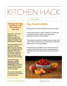 Kitchen Hack Fruit of the Week