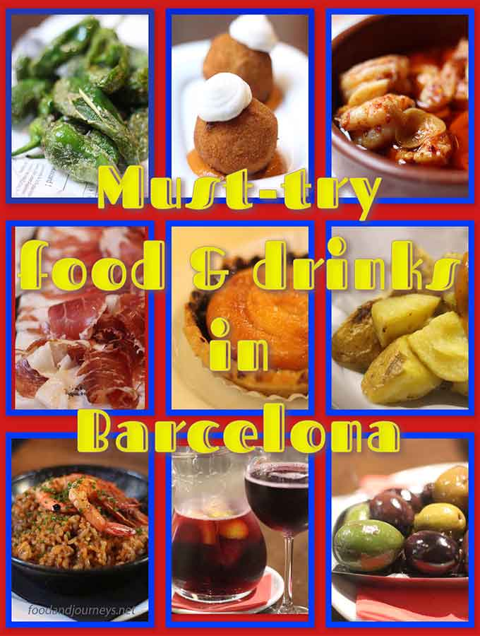 Must try food drinks Barcelona THMBNL