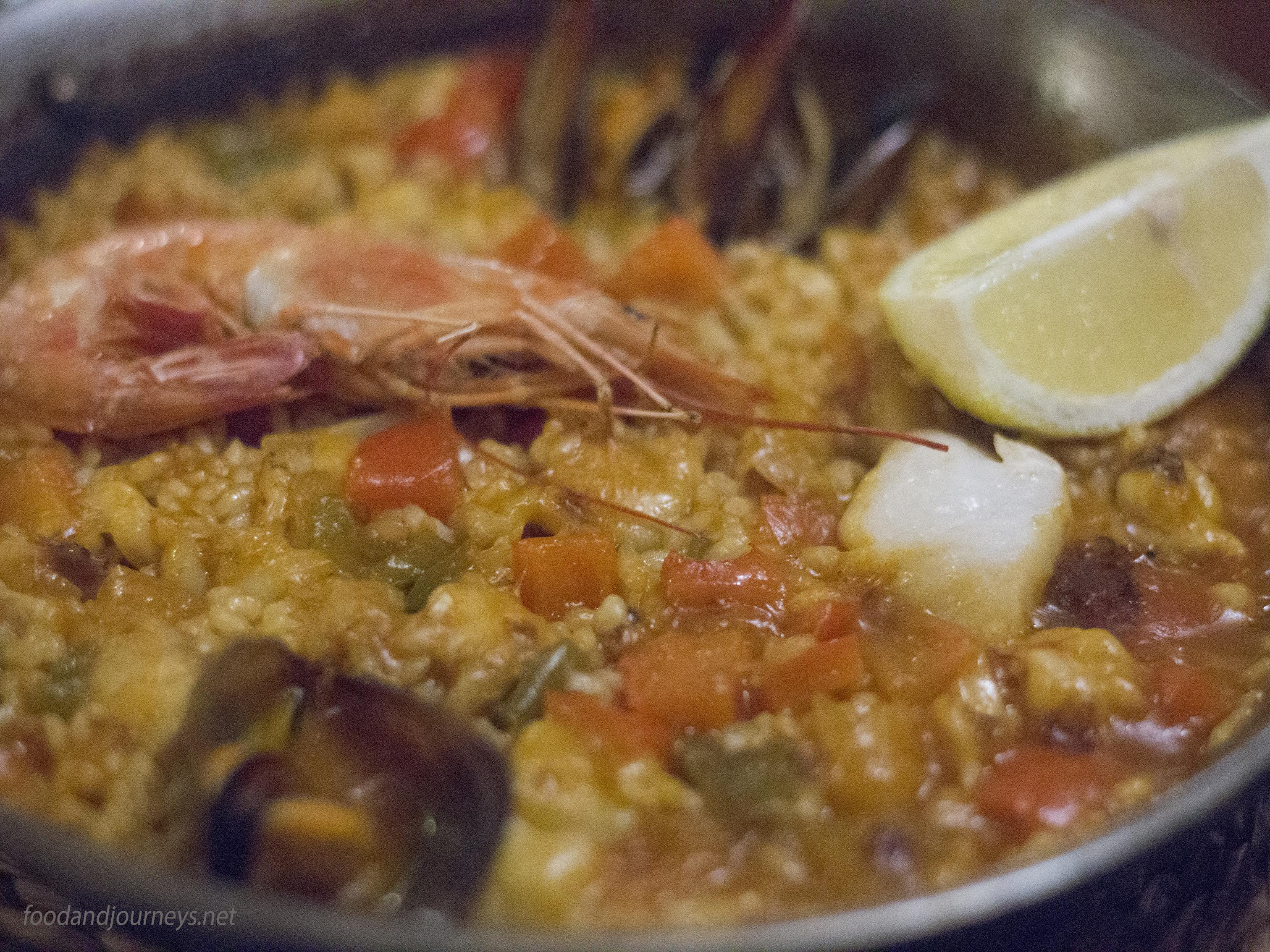 Seafood Paella Barcelona|foodandjourneys.net