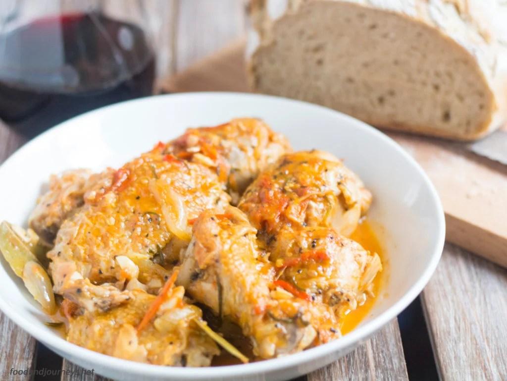 Chicken Cacciatore|foodandjourneys.net
