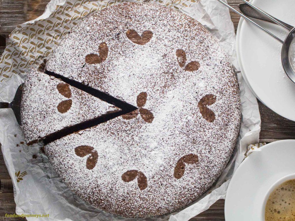Torta Caprese (Chocolate Almond Torte)