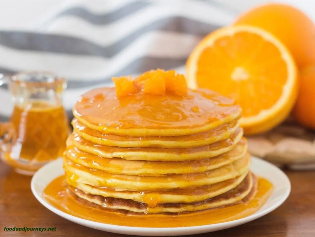 Orange & Mandarin Ricotta Pancakes foodandjourneys.net