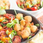 Fried Mozzarella & Tomato Salad