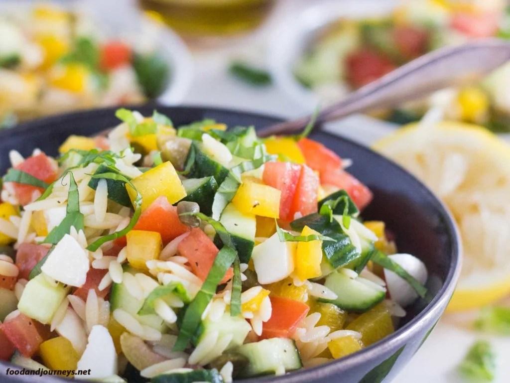 Summer Risoni Salad|foodandjourneys.net