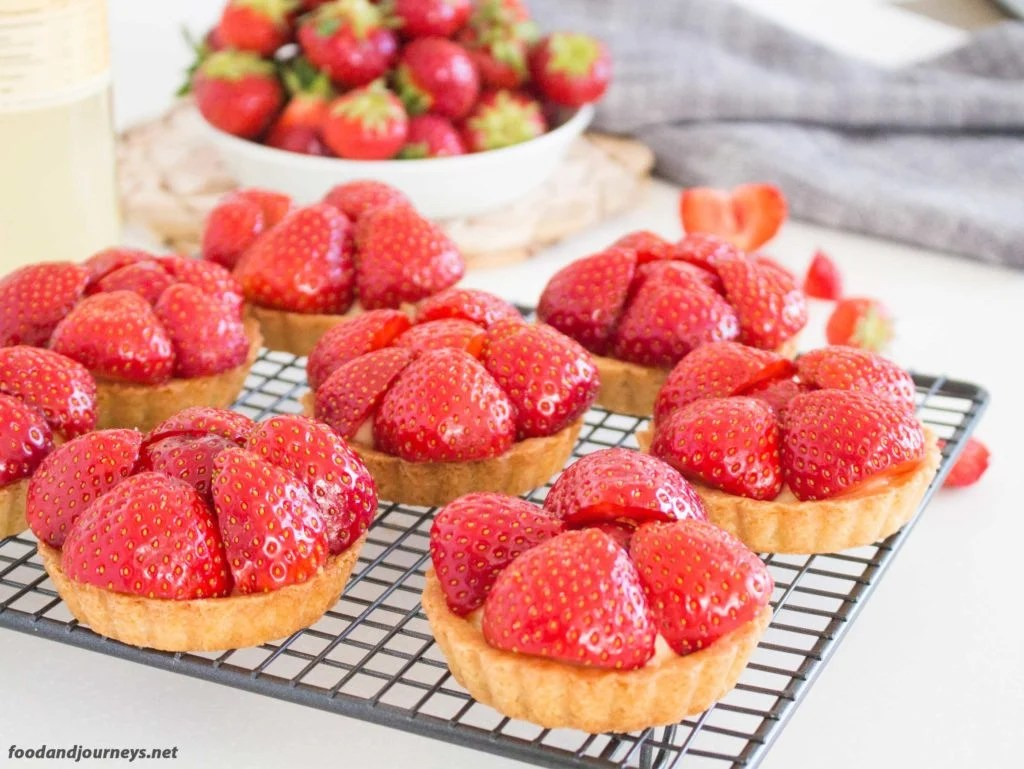 Swedish Strawberry & Elderflower Tartlets mpic foodandjourneys.net