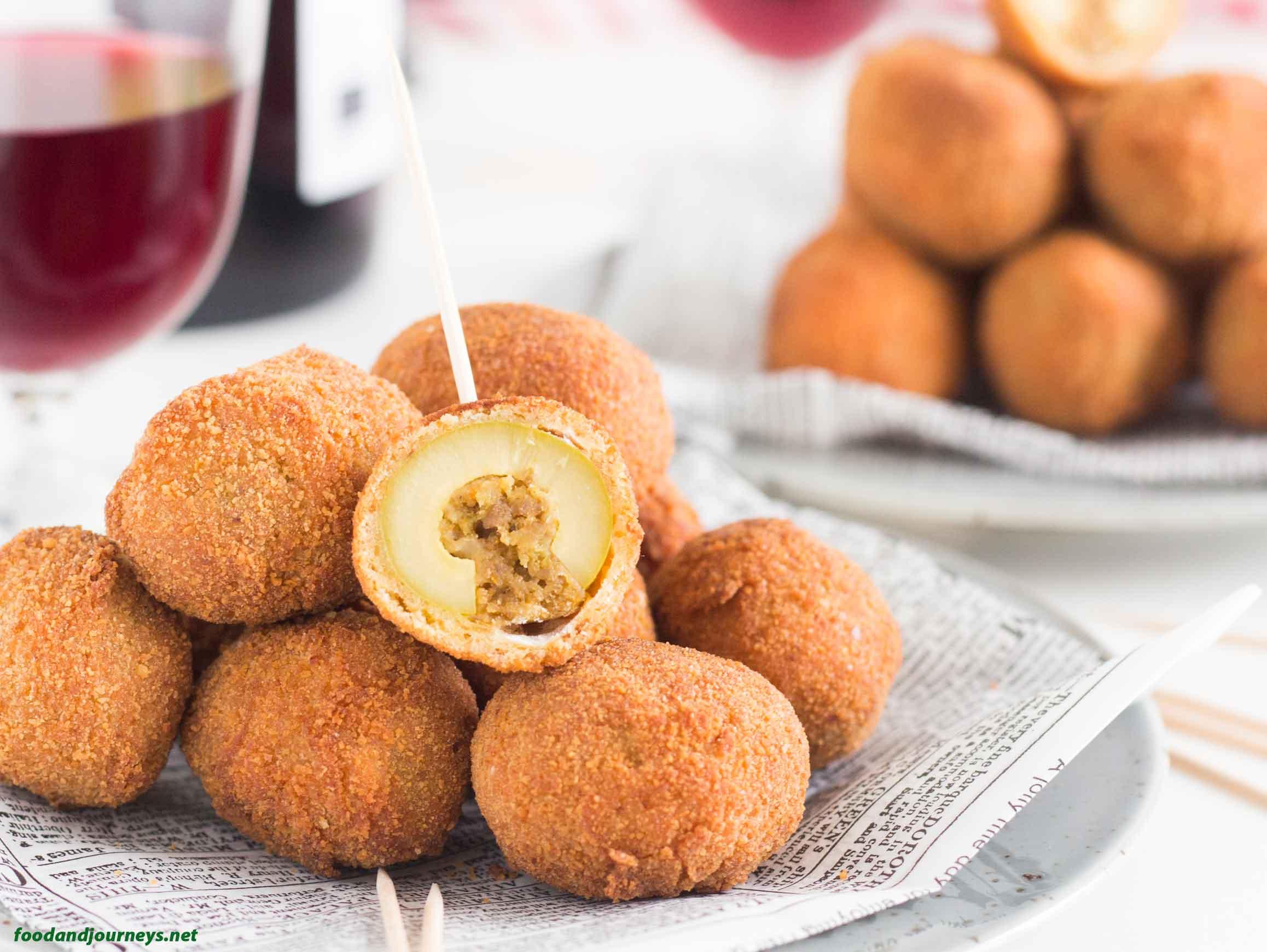Fried Stuffed Olives MPICLST|foodandjourneys.net