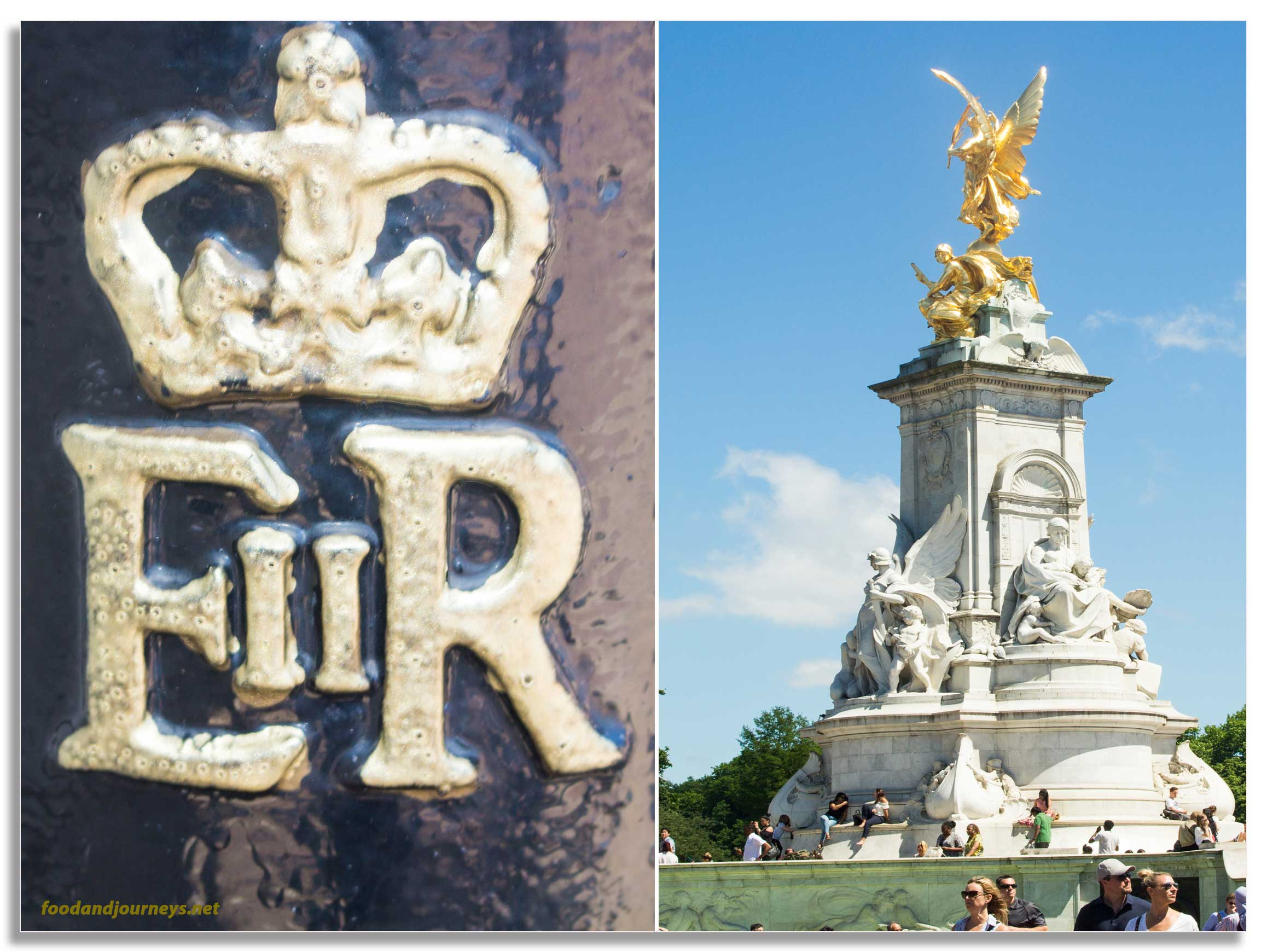 EIIR Cypher Victoria Memorial Buckingham Palace London|foodandjourneys.net