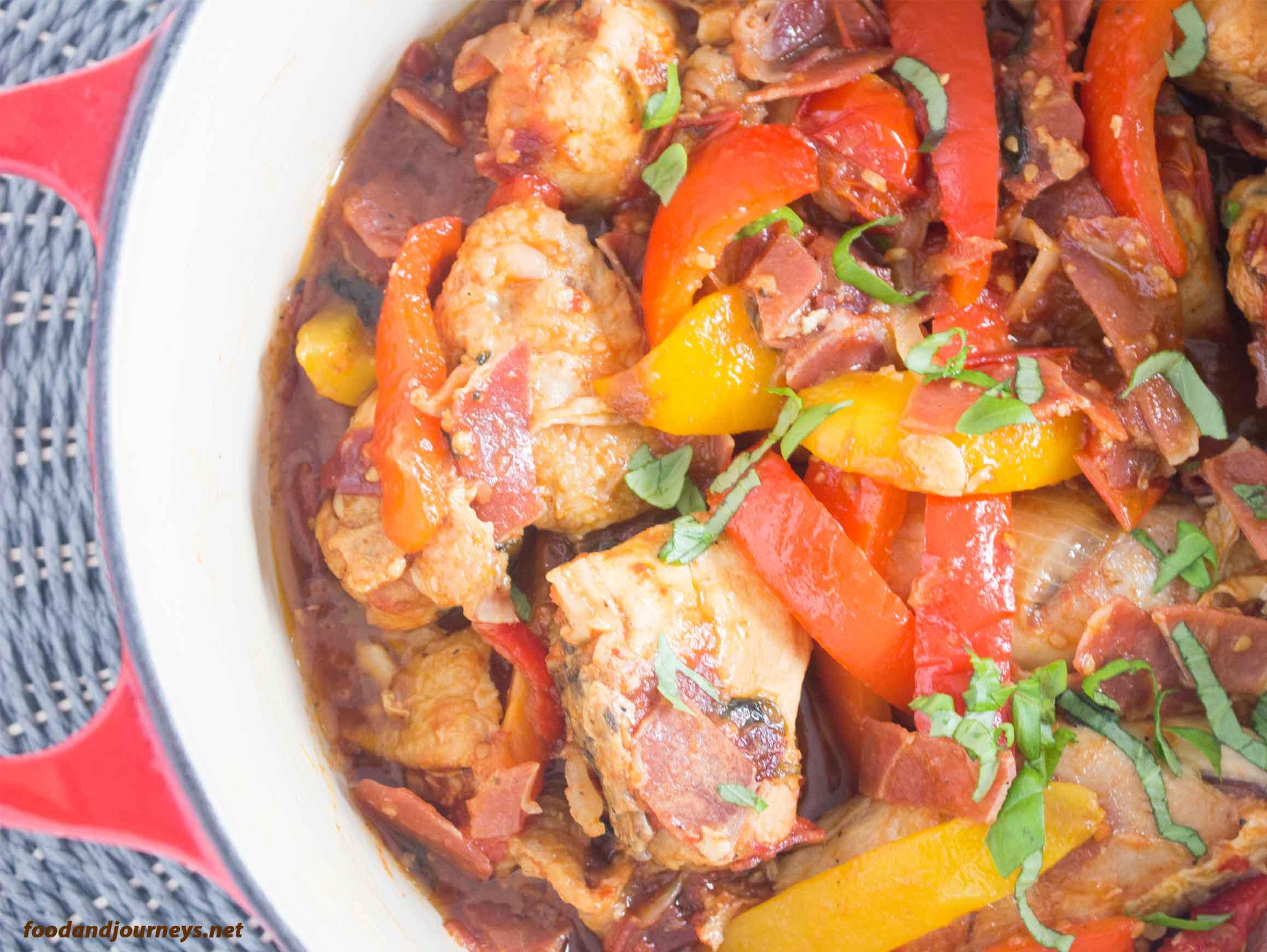 Roman Style Chicken Pollo alla Romana|foodandjourneys.net