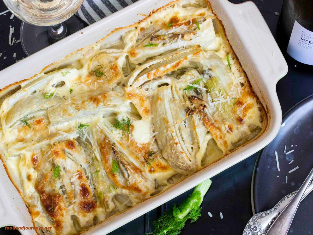 Baked Fennel with Parmesan & Cream