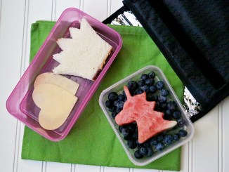 Various foods in lunchbox