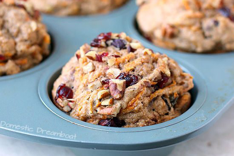 Cranberry Muffins with Sweet Potato and Pecans | Food & Nutrition | Stone Soup