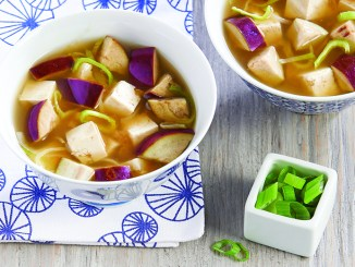 Miso Soup with Eggplant