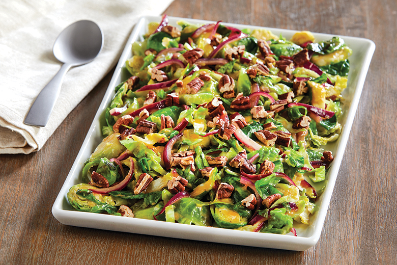 Orange-Spiked Shaved Brussels Sprouts