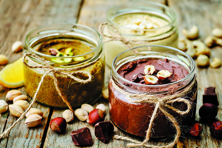 toasted nut butters, pistachio, hazelnut and cashew